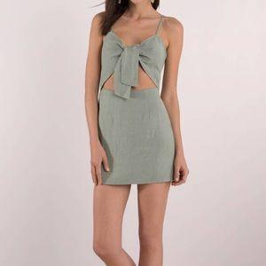 Dresses & Skirts - Front Tie Shift Dress - Olive